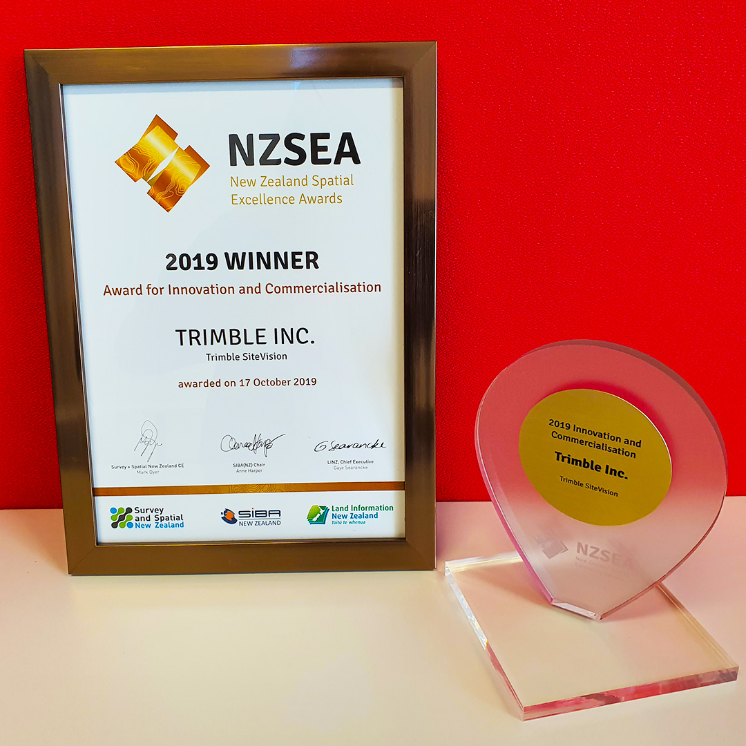 SiteVision wins 2019 New Zealand Spatial Excellence Award